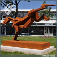 Life Size Outdoor Animal Statue Steel Dog Sculpture