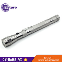 Custom-made telescoping magnetic pickup tool with light 3 LEDs aluminum flexible mini flashlights
