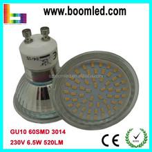 2015 Promotional Price!!! SMD GU10 6W LED Glass Bulb 6W LED Spot Light Only 1.45USD