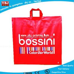 Popular Plastic Mesh Bags Printed Carry Plastic PE Shopping Bag with Soft Loop Handle