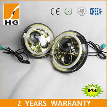 round led headlight 7'' high low beam led headlight for motorcycle