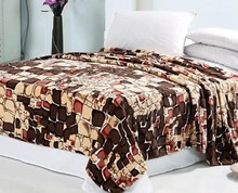 Eco-friendly Printed Flannel Warm Blanket/ Bed Sheet