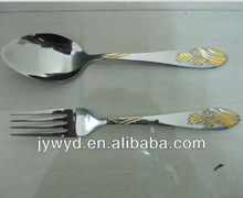 2012 newly design stainless steel cutlery for middle east market
