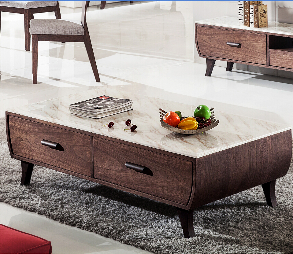 Modern Vintage Country Style Marble Coffee Table Marble Center Table Living R