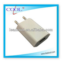 5v 500mah EU charger for Iphone/ Ipod/iPad, EU plug wall charger