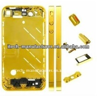 for apple iphone 4 middle from + wholesale for iphone 4 / 4s middle fram + replacement middle fram + GOLD color + oem