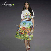 2015 europea buying club dress women dresses 2015 new arrival floral from china