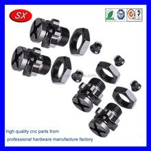 custom black chrome plating stainless steel Wheel Adaptor cnc turned milled machining service part