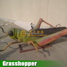 Simulation Insect Exhibition Animatronic Grasshopper