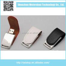 Latest Design USB 2.0 8Gb Leather U Disk 2gb Leather