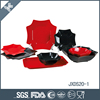 wonderful red and black turkish porcelain dinner set