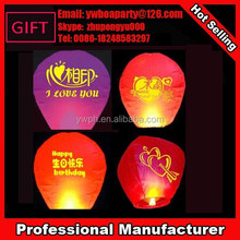 Cheap chinese lanterns with printed wished letters