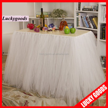 2015 wholesale fancy white tutu table skirt for wedding and party decoration