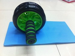 Fitness equipment Double wheel AB Wheel roller with mat