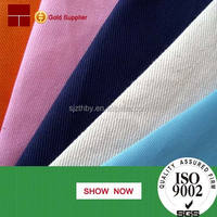new dyed factory price 65 polyester 35 cotton twill fabric wholesale