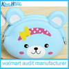 2015 new design colorful silicone coin purse with cute printing