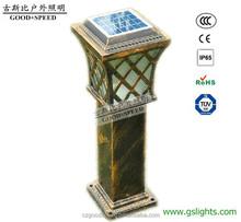 GSB SL66 die cast aluminum housing classic euro solar garden lamp