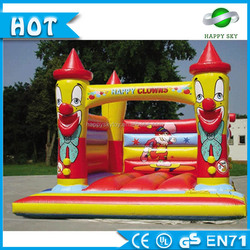 Top Sale 4*5*4m,6*5*5m 0.55mm PVC Yellow used bounce house inflatable, kids air jumping castle for sale , RO,UA like it