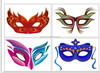 2014 new design custom temporary eyes tattoo sticker for party