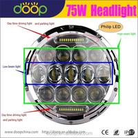 2015 New 2Pcs 7500LM Hi/Low Beam Car 7Inch 75W LED Headlight for JEEP Wrangler Hummer Camaro FJ Cruiser