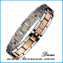 2015 hotsale ladies titanium energy bracelets with Germanium, Magnet, Negative Ion and Far Infrared