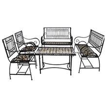 Entrada raccolta 5- pezzo tavolo mosaico/banco/sedia set di mobili da pranzo