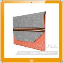 New Custom Woolen Felt Laptop Case Sleeve Computer Bag Table Cover Notebook