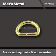 fashion golden 1.5 inch zinc alloy ring with bags