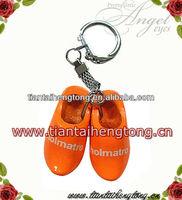 key chain Dutch shoe klompen key ring key holder holand shoe wooden shoes