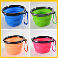 Wholesale Colorful Silicone plastic dog travel waterproof bowl bowl for cat dog