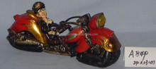 Cool motorcycle statue poly resin action figure, your own polyresin figure