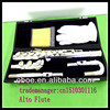 Musical instrument Alto flute with cupronickel body and silver plated surface