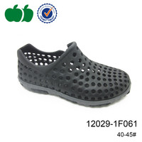 Mens grey casual shoes popular men injection eva plastic shoes with hole