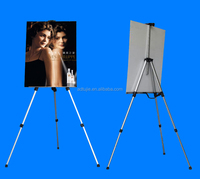hot selling silver metal easel display stand in guangzhou
