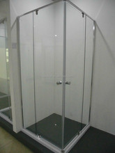 CVS-048 Simple design pivot door shower stall (6mm/8mm clear glass,semi-frameless,304 hardwares)