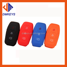 New Car Silicone Key Cover 6 Colors Smart For Ford Kuga EcoSport New Focus 2 3 Mondeo Fiesta Edge