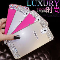 Bling crystal Metal Bumper Frame Case Back Cover For Samsung Galaxy note 4 3 N9000 S5 i9600 G900 S4 S6 S6 edge rhinestone case i