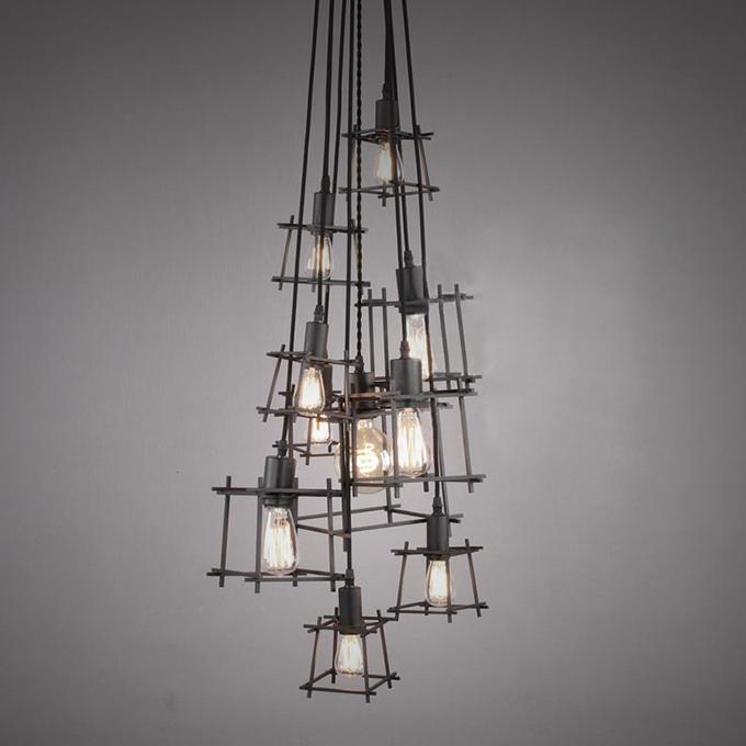 Ferro industriale luce del pendente/lampadario lampada a ...