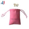 Best-Selling Cheap Promotional Logo Printed Custom Pink Jewelry Velvet Drawstring Bags