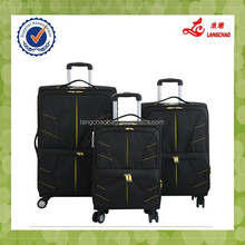 Black EVA Four Wheels Travelmate Trolley Suitcase Polyester Luggage