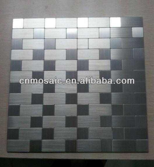 Azulejo de mosaico de metal autoadhesiva para la cocina - Azulejos para mosaicos ...