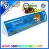triangle shaped pencil box in blue transparency for kids