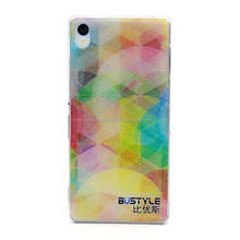 High quality hard plastic case UV printing mobile phone case for sony xperia z3