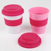 INTERWELL PPC55 Travel Mug, Wholesale Reusable 12 oz Plastic Cups Mugs