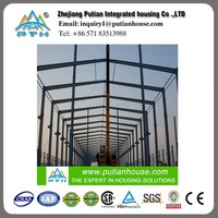 Pre engineered large span steel frame structure workshop