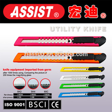 Plastic case Utility knife art knife 9mm ,student use colorful utility knife