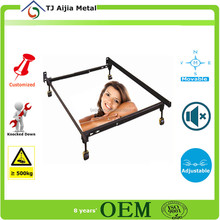 cheap bed frame fabrication 2015 hot selling durable metal bed frame