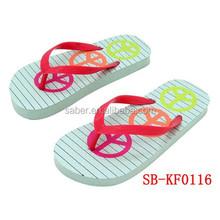 2015 New Fancy rubber outsole Flip-flop For Girls