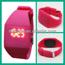 2015 Hot Selling Silicone Strap cheap military 1970s led light watches