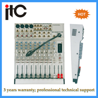 Professional 12 channel digital sound mixer for audio system